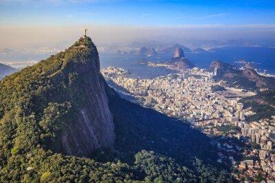 Fototapete Luftaufnahme von Christus der Erlöser und Rio de Janeiro Stadt