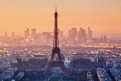 Fototapete Luftaufnahme von Paris bei Sonnenuntergang