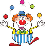 Lustiger Clown Cartoon Characters 3 Collection Set Fototapete
