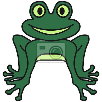 Lustige Comic Frosch Fototapete Fototapeten Merry Unke Frosch
