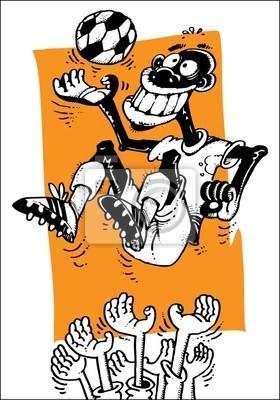 Lustige Comic Fussballer Fototapete Fototapeten Pop Art