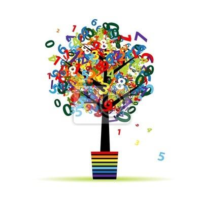Lustige digitalen Baum im Topf für Ihren Entwurf
