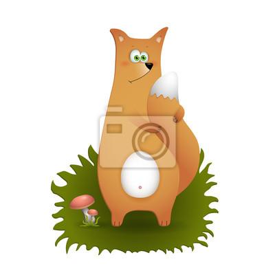 Lustige fox cartoon