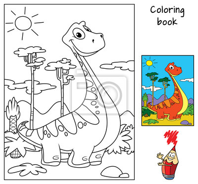 Charmant Dinosaurier Malbuch Zeitgenössisch - Beispiel ...