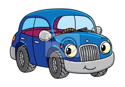 Lustiges Kleines Auto Mit Augen Fototapete Fototapeten Taxi Auto