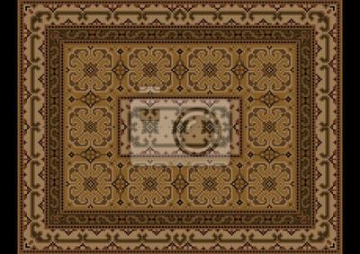 Fototapete Luxuriöse Vintage Orientalischen Teppich Mit Ornament Aus Braun  Und Gelb Schattierungen