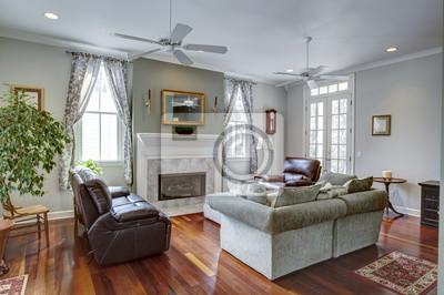 Fototapete Luxuriöses Modernes Wohnzimmer Mit Kamin
