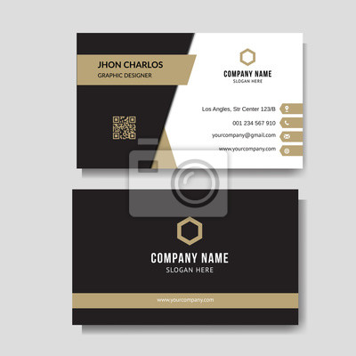 Fototapete Luxury and elegant business card