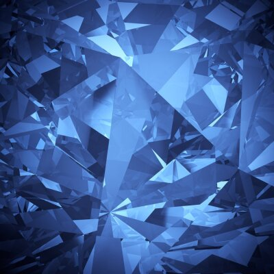 Fototapete Luxury blauen Kristall Facette Hintergrund
