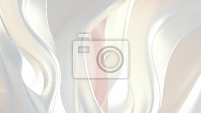 Fototapete Luxury elegant background abstraction fabric. 3d illustration, 3d rendering.