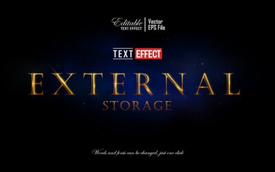 Fototapete Luxury gold in space editable text effect