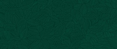 Fototapete Luxury Nature green background vector. Floral pattern, Tropical plant line arts, Vector illustration.