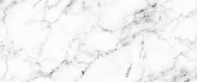 Fototapete Luxury of white marble texture and background for decorative design pattern art work. Marble with high resolution