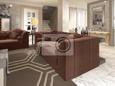 Luxus Designer Apartment Studio Im Art Deco Stil Fototapete