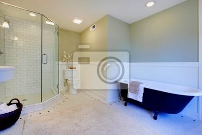 Moderne Badezimmer Frisch : Luxus frische grüne und weiße moderne badezimmer fototapete