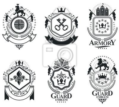 Luxus heraldische vektoren emblem vorlagen. vektor-wappen. nobel ...