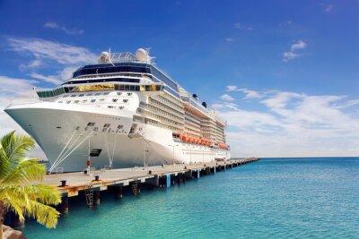 Fototapete Luxus-Kreuzfahrtschiff im Hafen