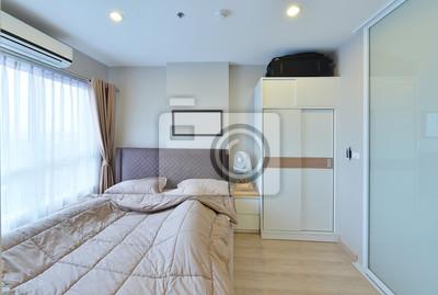 Fototapete: Luxus modern schlafzimmer innenraum und dekoration,  innenarchitektur