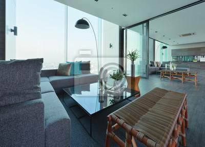 Fototapete Luxus Modernes Wohnzimmer Interieur Und Dekoration,  Innenarchitektur