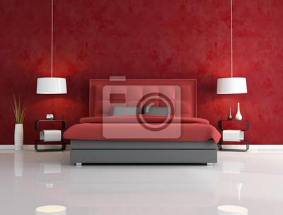 Fototapete Luxus Rot Schlafzimmer