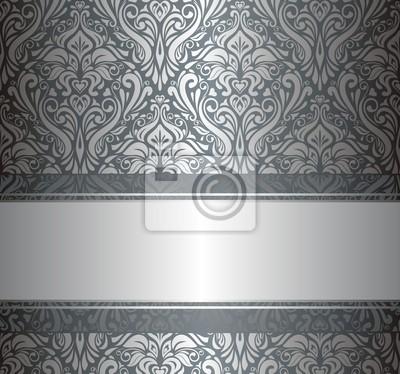 Luxus Silber Vintage Tapete Fototapete Fototapeten Ocker Bijou