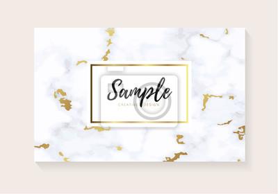 Luxus Visitenkarten Mit Marmor Textur Und Gold Design Für