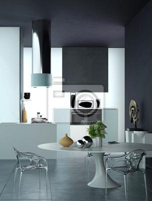 Luxus Wohnung Mit Schwarz Weiß Dekor Fototapete Fototapeten