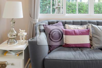 Fototapete Luxus Wohnzimmer Design Mit Klassischen Sofa, Sessel Und  Dekoration