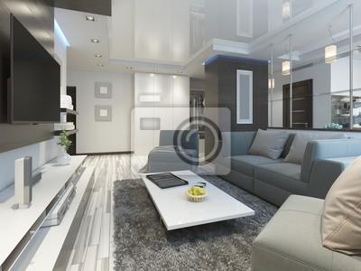 Luxus Wohnzimmer Studio In Einem Modernen Stil Fototapete