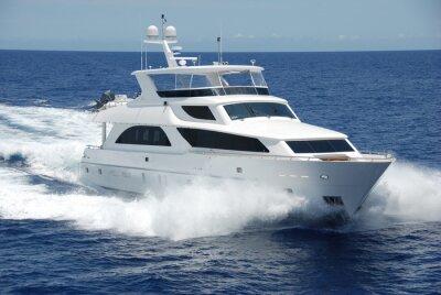 Fototapete Luxus-Yacht auf dem Meer