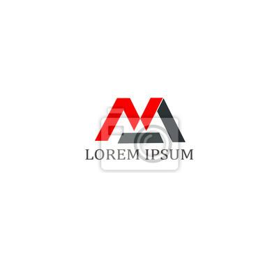 M letter logo business professionelle logo vorlage fototapete ...
