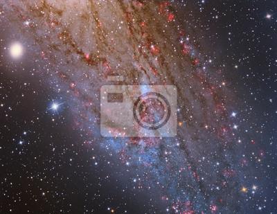 M31 Andromeda Galaxy Closeup mit einem Teleskop und eine wissenschaftliche CCD-Kamera abgebildet
