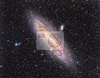 M31 Andromeda Galaxy mit einem Teleskop und einer wissenschaftlichen CCD-Kamera abgebildet