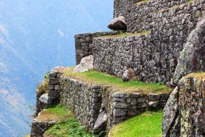 Fototapete Machu Picchu, die alten Mauern