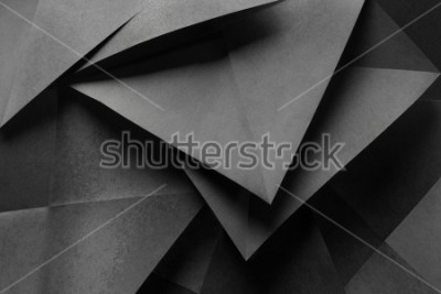 Fototapete Macro image of paper folded in geometric shapes, three-dimensional effect, abstract background