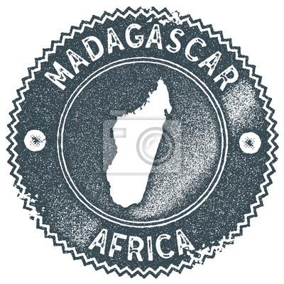 Madagaskar Karte.Fototapete Madagaskar Karte Vintage Stempel Handgeschriebener Aufkleber