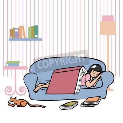 auf der couch einschlafen