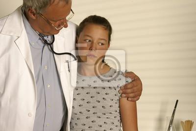 Mädchen Beim Arzt Fototapete Fototapeten Herzschmerz Trost