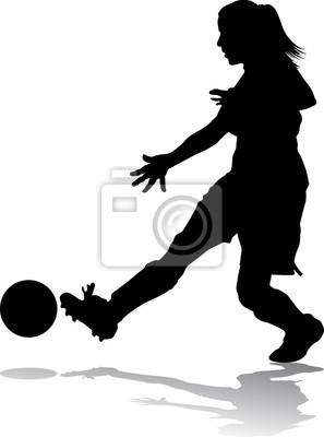 Mädchen-Fußball-Spieler,