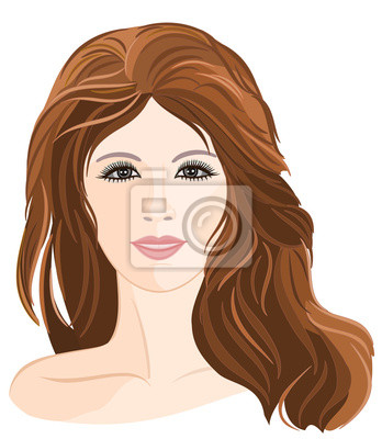 Mädchen junge braune Haare