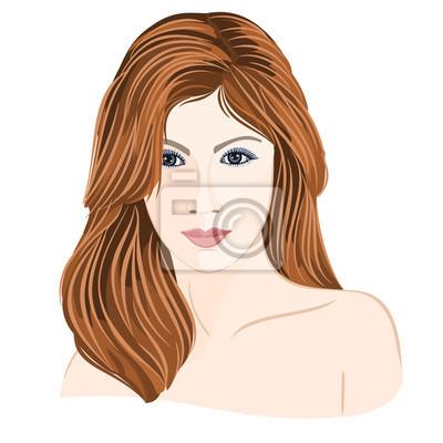 Mädchen junge hellbraune Haare Frau mit grauen Augen