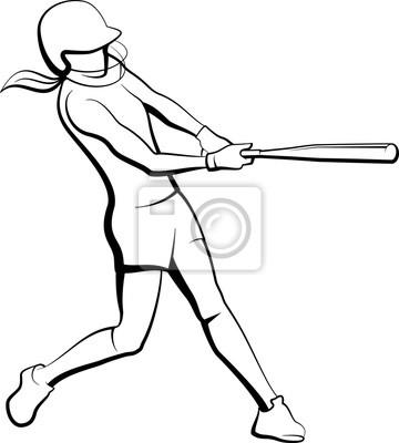 Mädchen Softball Teig