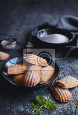 Madeleine Traditionelle Franzosische Kleine Kuchen Fototapete
