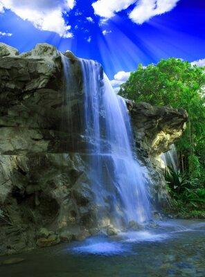 Fototapete Magische Wasserfall