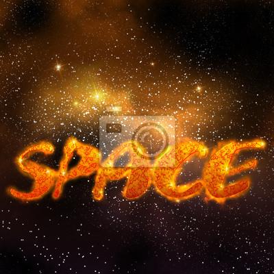 magischen Raum, orange