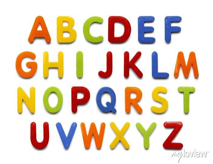 Fototapete Magnet Alphabet