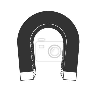 Magnet-symbol fototapete • fototapeten Gravitation, Polarität ...