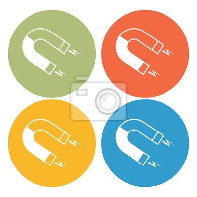 Magnet-symbol fototapete • fototapeten ferromagnetische, Abstoßung ...
