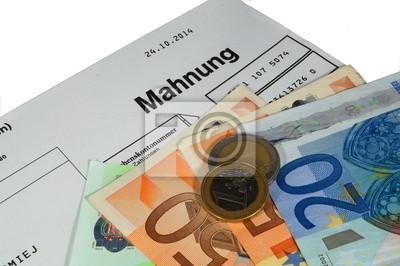 Mahnung Brief Fototapete Fototapeten Ermahnung Finanzierung