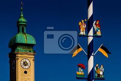 Fototapete: Maibaum tradition brauch bayern münchen